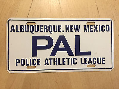Police Athletic League Albuquerque New Mexico Front Booster License Plate