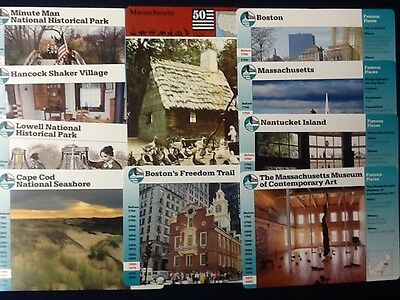 Story of America Cards Massachusetts....Lot of 10 Cards!!!