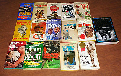 Lot of 16 Paperback books about football fiction and non fiction