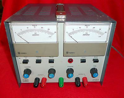 Farnell ET30/2 Stabilised Power Supply Twin output  0-15V @ 2A & 0-30V @ 1A Max.
