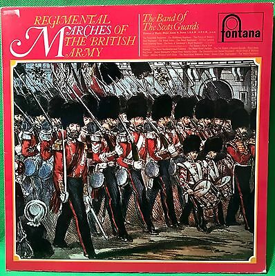 The Scots Guards Band of Vinyl Record LP 'Regimental Marches of The British Army