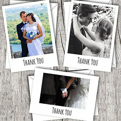 Wedding Thank You Cards • Your Photo • Personalised • Flat/Polaroid Style