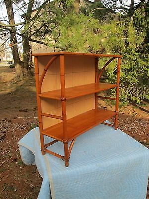 Real Nice Heywood Wakefield Ashcraft Bookcase / Shelf Bamboo ~ Rattan Must See