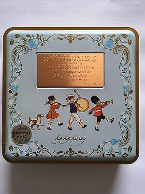 Prince George - limited edition engraved M&S Biscuit tin