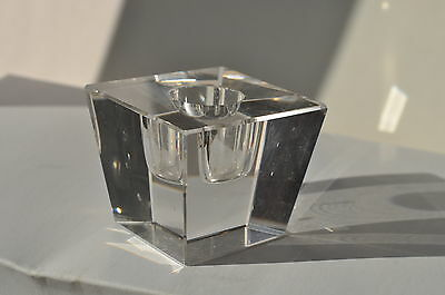 Vintage Clear Glass Candle Holder