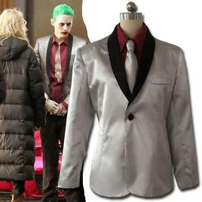 Suicide-Squad-The-Joker-Costume-Cosplay-Suit-Silver-Jacket-Coat-Psychos-Killers