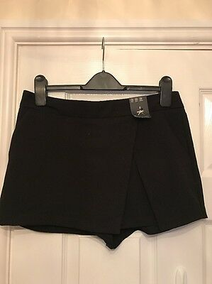 New Atmosphere Black Wrap Front Skort - Size 10 Fab!
