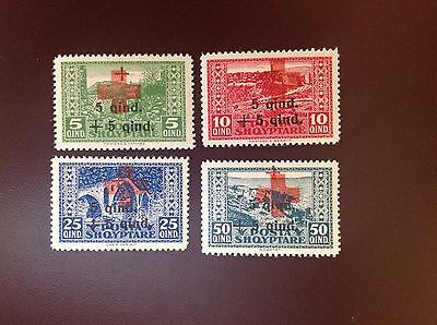 Albania 1924 Red Cross Surcharges SG161-4 MH