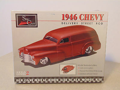 SpecCast Diecast Metal Body Model Kit 1946 Chevy Delivery Street Rod