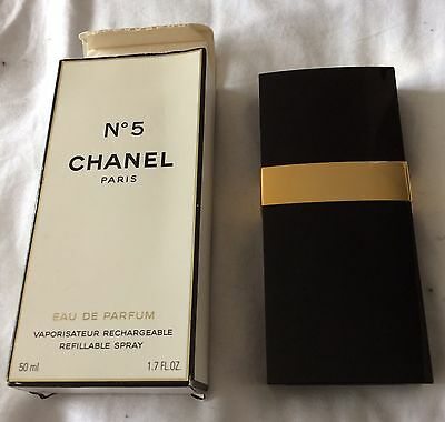 chanel No 5 50ml rechargeable refillable empty perfume spray