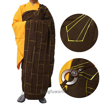 Top Quality Shaolin Monk Dress Buddhist Cassock Kesa Robe Meditation Suit