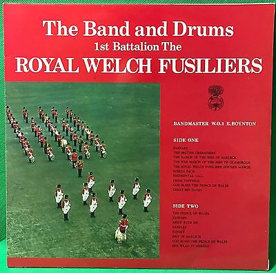 The Royal Welch Fusiliers Vinyl Record LP 1st Battalion Band & Drums