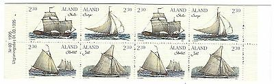 ALAND 1995 Peninsular Cargo ships complete unexploded stamp booklet, vessels