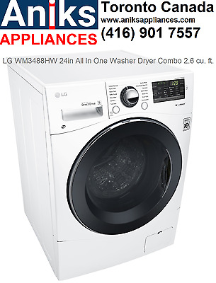LG Canada WM3488HW 24in All In One Ventless Washer Dryer Combo 2.6 cu. ft. Inter
