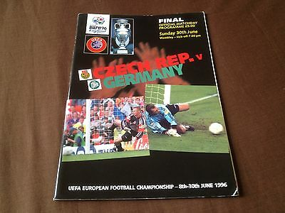 Euro 96 (European Championships) The Final - Germany V Czech Republic - Original