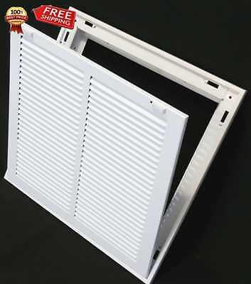 """14"""" x 14"""" RETURN FILTER GRILLE - Easy Air FLow - Flat Stamped Face"""