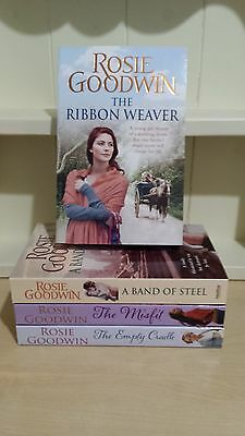 Collection of 4 x Paperback Books by Rosie Goodwin - The Ribbon Weaver - NEW