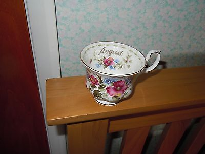 Royal Albert bone china teacup August Poppy