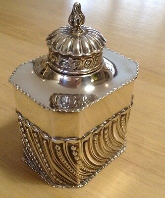 A Superb Victorian Silver Tea Caddy By William Comyns Of London C 1875