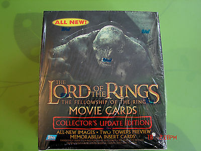 new sealed in m/nm condition lotr fellowship of the ring update hobby box