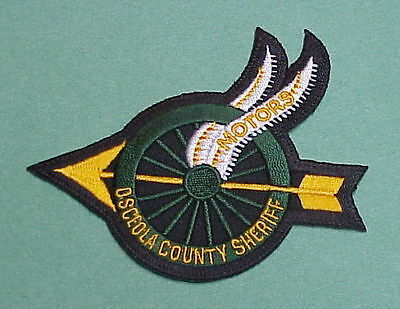Osceola County  Florida  Fl  Motors  Sheriff /  Police Patch   Free Shipping!!!