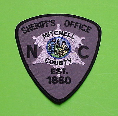 Mitchell County  North Carolina  Est. 1860  Nc  Police Patch   Free Shipping!!!