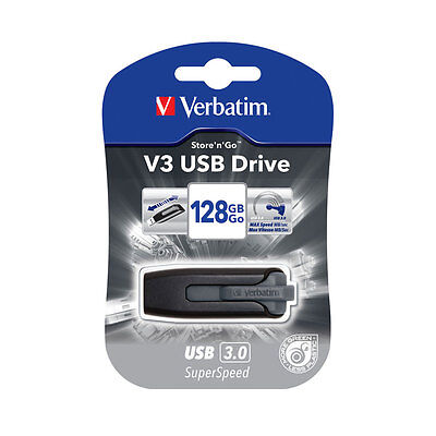 Verbatim Store n Go V3 USB 3.0 Flash Drive Memory Stick - 128GB
