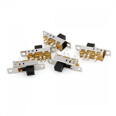 5 Pcs 3 Position DPDT Panel Mounted Mini Vertical Slide Switch 6 Pin