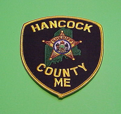 Hancock County  Maine  Me  Sheriff /  Police Patch  Free Shipping!!!