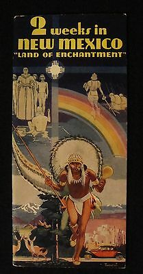 """New Mexico """"Land of Enchantment"""" Brochure  1930s"""