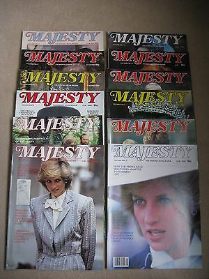 Complete Set Of Majesty, The Monthly Royal Review Magazine Volume 4. 1 to 12