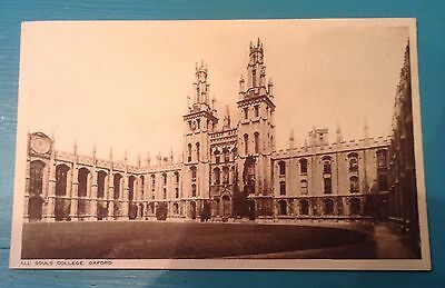 Vintage RP postcard. All Souls college Oxford. Oxfordshire. 1950's.