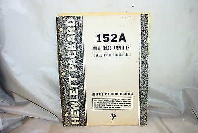 HP 152A Dual Trace Amplifier Operating & Service Manual for HP 150A Oscilloscope
