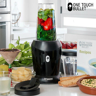 Batidora de Vaso One Touch Monster Bullet, hasta 1200 W de potencia, incluye tap