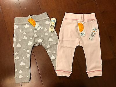 NWT Set of Two C&C California Baby Pants Sweats - size 12 months!
