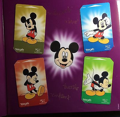 Mickey Mouse Story PT.5 70 Fabulous Years Phone Card Set LE #750