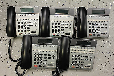 Lot Of (5) Nec Dterm80 Telephones Dth-8D-2 (Bk) 780571 Good Lcd's Tested