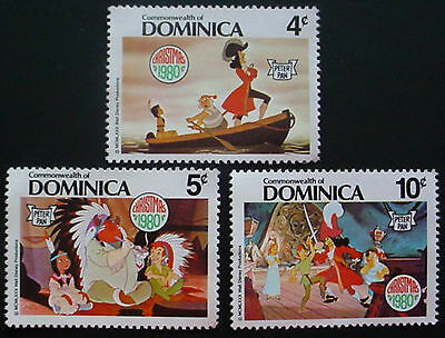 Dominica: Collection Of 9 Mng Stamps Featuring Disney Characters