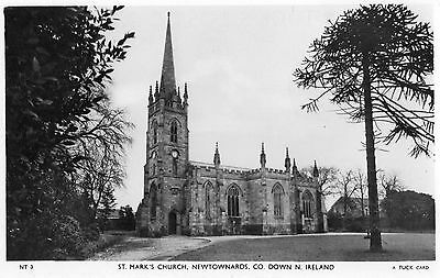 ST. MARKS CHURCH NEWTOWNARDS CO. DOWN N. IRELAND RP POSTCARD by TUCK POSTED 1955