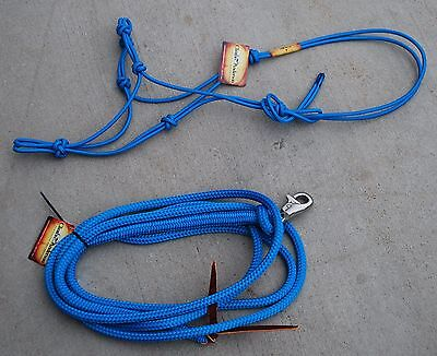 Clinton Anderson Rope Halter and Lead ~Blue Color~ Average Size~ Free Shipping!!