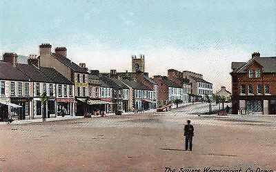 The Square Warrenpoint Co. Down Ireland Lawrence Irish Postcard Unposted