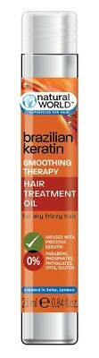 Natural World Brazilian Keratin Smoothing Therapy Hair Treatment Oil 25ml
