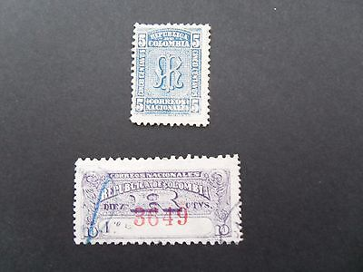 1904  Colombia Acknowledgement of Receipt & Registration Stamps