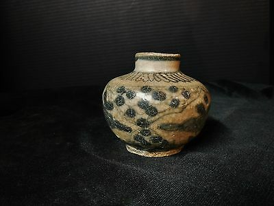 Antique 15th/16th C. Chinese Ming Dynasty Blue and White Jarlet Jar Vietnamese