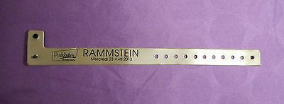 Vip Pass Bracelet Loge Concert Rammstein Made In Germany Tres Rare