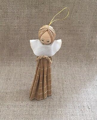 Vintage Natural Scandinavian Angel Christmas Tree Ornament