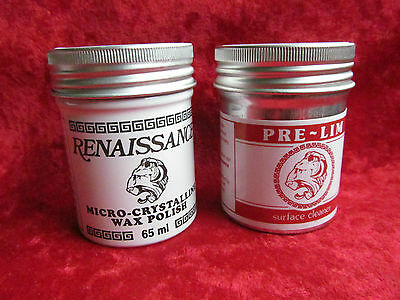 65ml Pre-lim surface cleaner & Renaissance wax, Antique cleaning & Protection