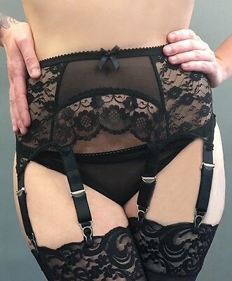Luxury Lace, Arched front, Suspender/Garter Belt, 4.6.8 Straps