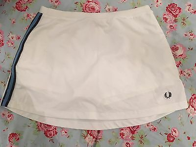 Fred Perry Tennis Skirt. White, Size 8