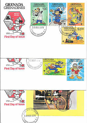 GRENADA GRENADINES; No. 350-359 (Including s/s) FIRST DAY COVER SET